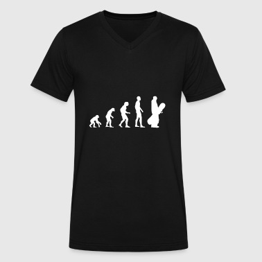 Evolution Snowboard - Men's V-Neck T-Shirt by Canvas