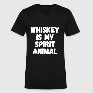 Whiskey - Whiskey is my Spirit animal - Men's V-Neck T-Shirt by Canvas