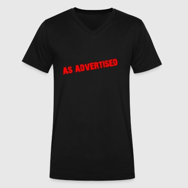 Advertise As Advertised - Men's V-Neck T-Shirt by Canvas
