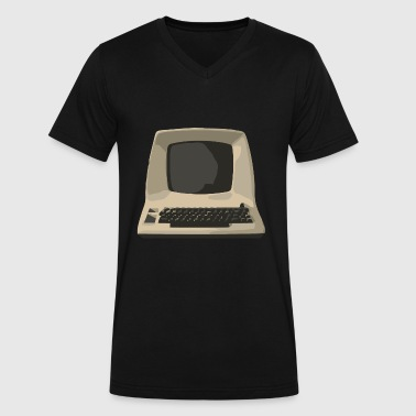 Old School Computer old computer - Men's V-Neck T-Shirt by Canvas