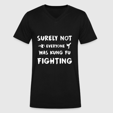 Judo Cartoon Surely not everyone was kung fu fighting - Men's V-Neck T-Shirt by Canvas