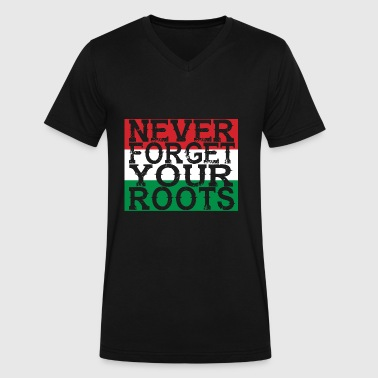 never forget roots home Ungarn - Men's V-Neck T-Shirt by Canvas