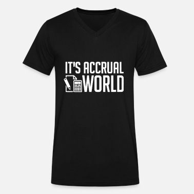 Accountanting Accountant - funny accounting / accountant's it' - Men's V-Neck T-Shirt by Canvas