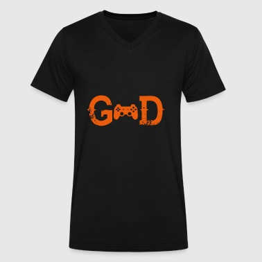 Gaming God Legende god gott gaming gamer - Men's V-Neck T-Shirt by Canvas