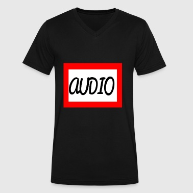 AUDIO - Men's V-Neck T-Shirt by Canvas