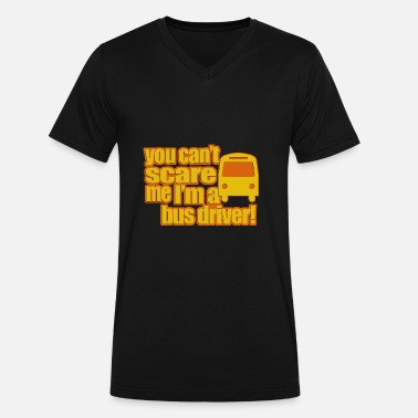 Young Bu Bus driver - Men's V-Neck T-Shirt by Canvas