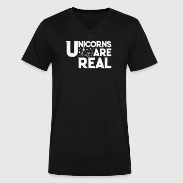Unicorns Are Real - Men's V-Neck T-Shirt by Canvas