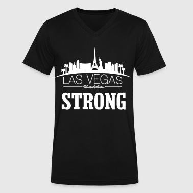 Las Vegas Strong tshirt 01 - Men's V-Neck T-Shirt by Canvas