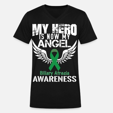 Atresia Biliary Atresia Awareness - Men's V-Neck T-Shirt by Canvas