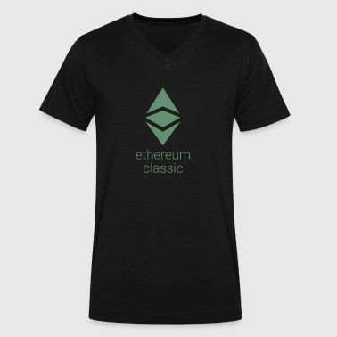 Ethereum Classic Authentic - Men's V-Neck T-Shirt by Canvas