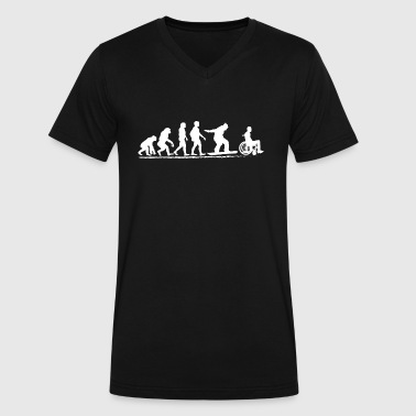 Evolution Snowboarding Snowboard Tshirt Funny Evolution Design Gift - Men's V-Neck T-Shirt by Canvas