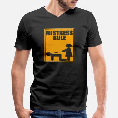 Mistress MISTRESS - Men's V-Neck T-Shirt by Canvas