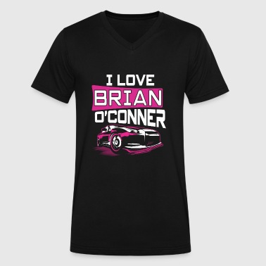 I love Brian O'Conner T-shirt - Men's V-Neck T-Shirt by Canvas