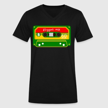 Rastafarian Flag Reggae Mix Tape - Men's V-Neck T-Shirt by Canvas