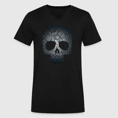 Floral Skull - Men's V-Neck T-Shirt by Canvas