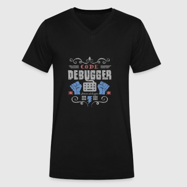 Code Debugger - Men's V-Neck T-Shirt by Canvas