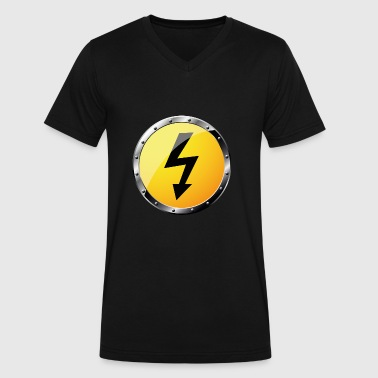 High Voltage high voltage - Men's V-Neck T-Shirt by Canvas