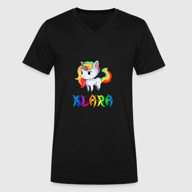Klara Klara Unicorn - Men's V-Neck T-Shirt by Canvas
