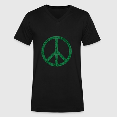 Peace Weed - Men's V-Neck T-Shirt by Canvas