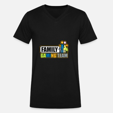 A Team Family Family gaming team - Men's V-Neck T-Shirt by Canvas