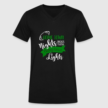 Home town nights under those friday night lights s - Men's V-Neck T-Shirt by Canvas