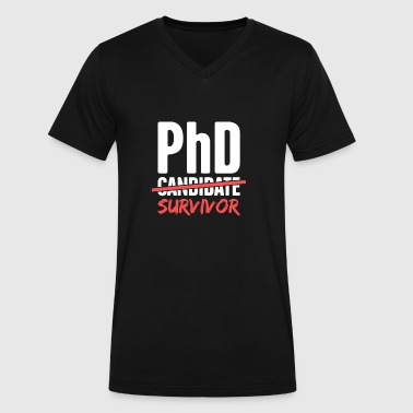 PhD Candidate Survivor - Men's V-Neck T-Shirt by Canvas