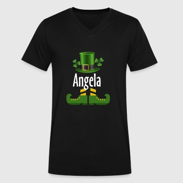 Angela - Men's V-Neck T-Shirt by Canvas