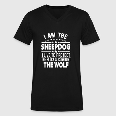 I Am The Sheepdog I AM THE sheepdog i live to protect the flock - Men's V-Neck T-Shirt by Canvas