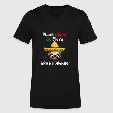 Mayo Make Cinco De Mayo Great Again Sloth - Men's V-Neck T-Shirt by Canvas