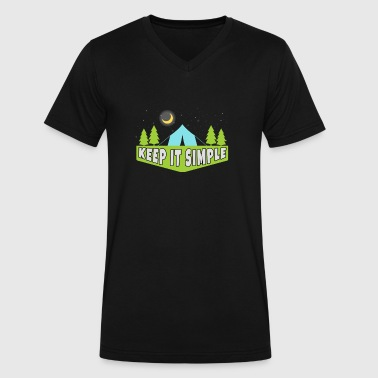 Keep It Simple Camping - Men's V-Neck T-Shirt by Canvas