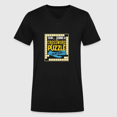 Doing A Crossword Puzzle In My Head Perfect Gift T-Shirt - Men's V-Neck T-Shirt by Canvas