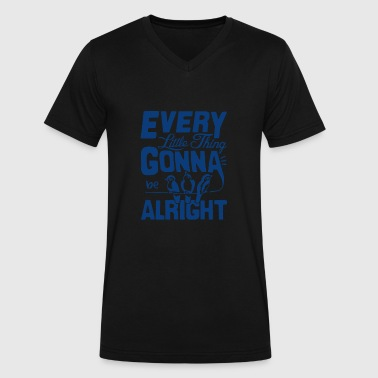 Everything's Gonna Be Alright - Men's V-Neck T-Shirt by Canvas