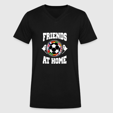 Flag Friends Friends at home - One World - Friends together - Men's V-Neck T-Shirt by Canvas