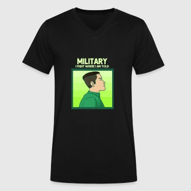 College Military Military Man Gift Idea - Men's V-Neck T-Shirt by Canvas