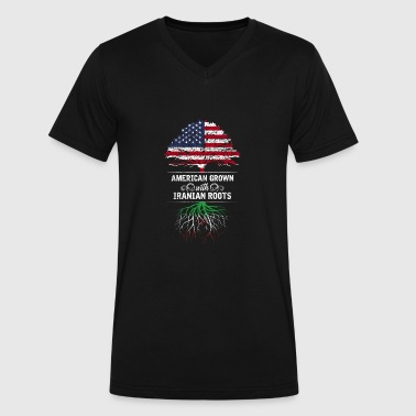 American grown with Iranian roots - Men's V-Neck T-Shirt by Canvas