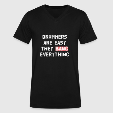 DRUMMER - PARTY - SEX - Men's V-Neck T-Shirt by Canvas