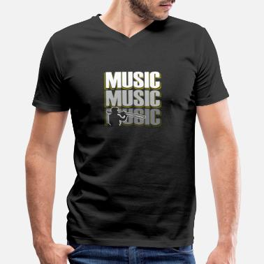 Pop Music Music Music Music Gift trombone Musician - Men's V-Neck T-Shirt by Canvas