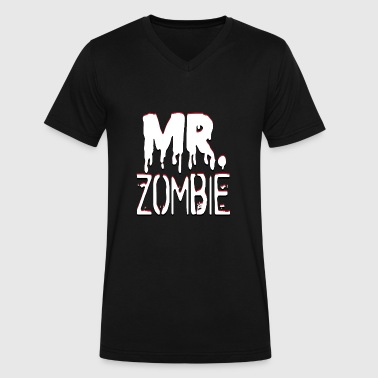 Partner Look Mr. Zombie and Mrs. Zombie partner look - Men's V-Neck T-Shirt by Canvas