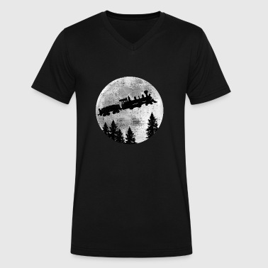 steam locomotive - Men's V-Neck T-Shirt by Canvas