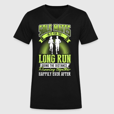 Sole mates in it for the long running together - Men's V-Neck T-Shirt by Canvas