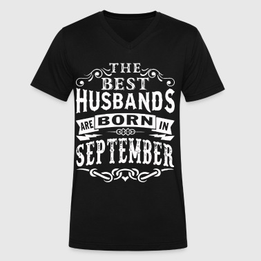 The best husbands are born in September - Men's V-Neck T-Shirt by Canvas