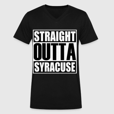 Straight Outta Syracuse - Men's V-Neck T-Shirt by Canvas