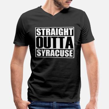 1776 Straight Outta Syracuse - Men's V-Neck T-Shirt by Canvas