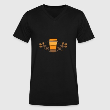 Pumpkin Spice Latte spiced pumpkin latte - Men's V-Neck T-Shirt by Canvas