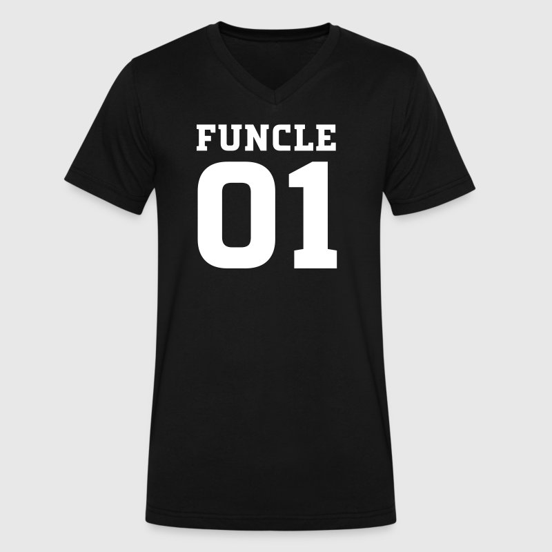 Funcle Number One | Fun Uncle Design - Men's V-Neck T-Shirt by Canvas