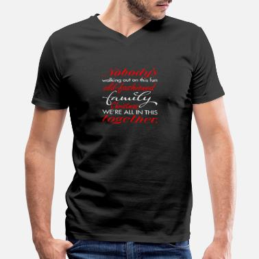 Nobody Walking Nobodys Walking Dis Fun Fashioned Family Christmas - Men's V-Neck T-Shirt by Canvas