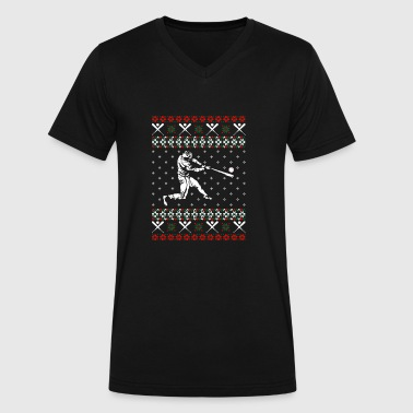 Softball Ugly Christmas Vector - Men's V-Neck T-Shirt by Canvas