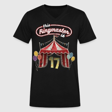 Circus Ringmaster 17th Birthday Kids - Men's V-Neck T-Shirt by Canvas