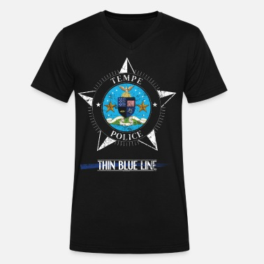 Arizona Police Police T Shirt Tempe Arizona Police Gifts Shirt - Men's V-Neck T-Shirt by Canvas