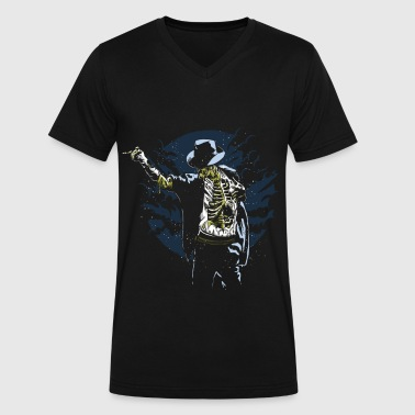 Thriller Dance Jackson Zombie - Men's V-Neck T-Shirt by Canvas